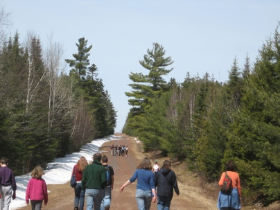 Earth Day Rally in the UNB Woodlot