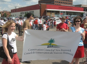 Conservation Council getting ready to march in Canada Day Parade