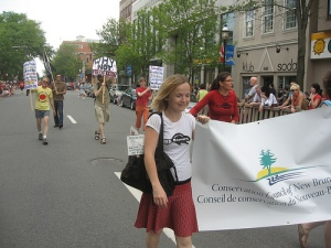 Conservation Council marching in Canada Day Parade