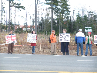 Rally at UNB Woodlot on Nov. 2, 2009.